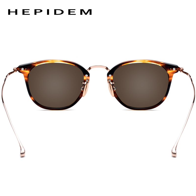 HEPIDEM Pure B Titanium Acetate Polarized Sunglasses Men 2019 New Fashion Brand Designer Vintage Square Sun Glasses for Women