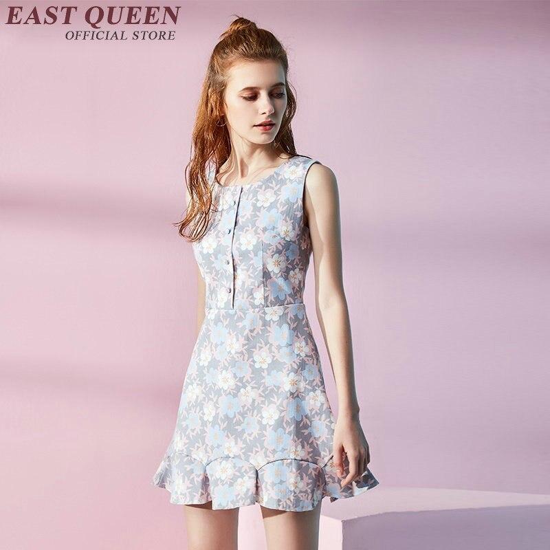 517d79a0ef33 Cute summer sundresses with florets Dfined waist Just-above-knee hem Summer  dress kawaii
