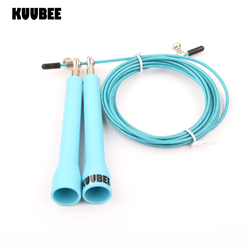 KUUBEE (50pcs/lot) Iron bearing skipping rope Speed Cable Jump Rope home gym Adjust wire rope skipping