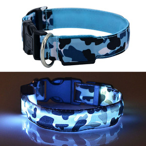 Image 3 - Led 개 목걸이 빛나는 애완 동물 제품 안전 위장 세련 된 깜박이 글로우 목걸이 애완 동물 액세서리