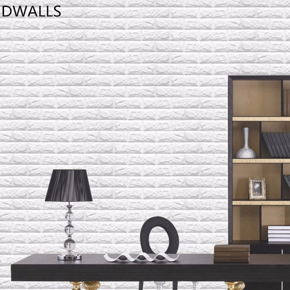 60x60cm PE Foam 3D Wall Stickers Safty Home Decor Wallpaper DIY Wall Decor Brick Living Room Kids Bedroom Decorative Stickers-in Wallpapers from Home ...