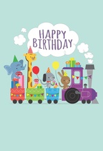 Laeacco Cartoon Train Elephant Deer Baby Children Photography Backgrounds Customized Photographic Backdrops For Photo Studio