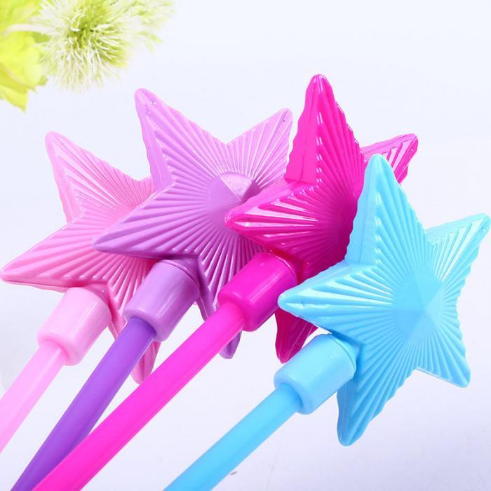 Дети горячая Селли освещенные игрушки пятиконечная звезда Флэш-палки звезд волшебный бар дети девочка Фея Звезда род игрушки подарки -17