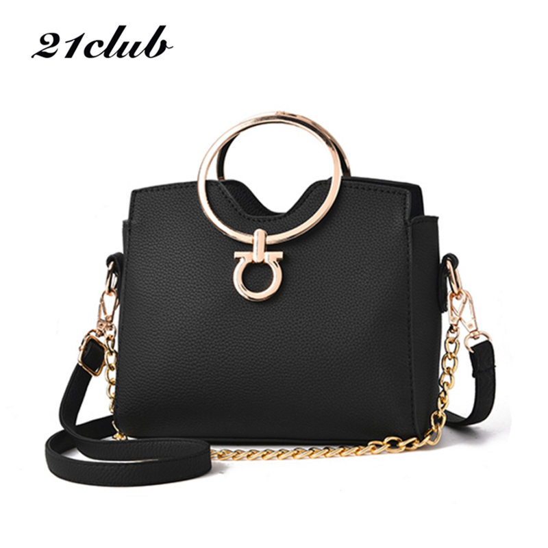 2018 Casual Chains Metal Handle Small Handbags Hot Laides Purse Famous Brand Women Evening Clutch Messenger