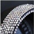 (50 шт./лот) Оптовая 3 мм Кристалл Rhinestone Алмазный Наклейки Наклейки Для Автомобиля/Стены/Стекло/телефон стайлинга автомобилей