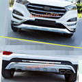 for Hyundai Tucson 2016 Front & Rear Bumpers Skid Protector Guard Exterior 2pcs
