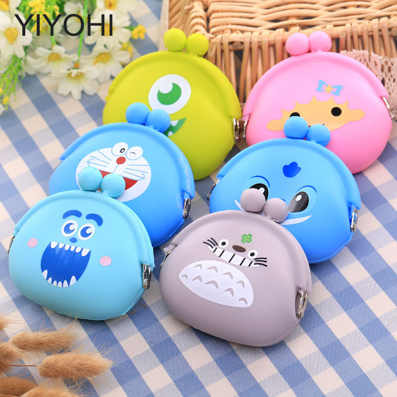 YIYOHI Kawaii Candy Color Cartoon Animal Women Girls Wallet Multicolor Jelly Silicone Coin Bag Purse Kid Gift Earphone Holders new fashion lovely kawaii candy color cartoon animal women girls wallet multicolor jelly silicone coin bag purse kid gift