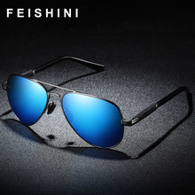 FEISHINI Brand Men Sunglasses Polarized Men Pilot Coating Mirror Sun Glasses Driver oculos Male Eyewear Accessories For Men