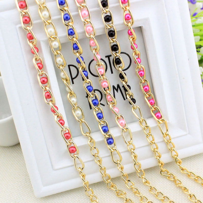 New Long Metal   Belt   Waist Body Alloy Chain Imitation Pearl Beads Pendant Dress Female luxury   Belt   For Women Clothing Accessories