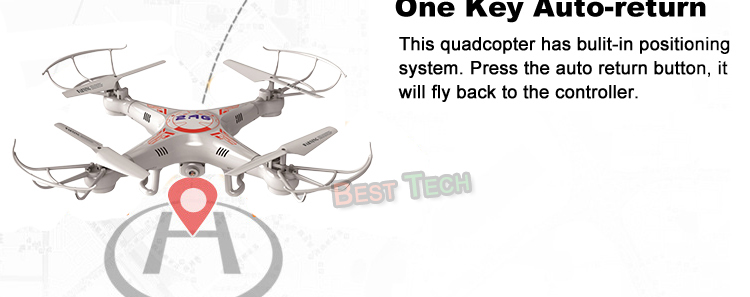 X5C-1 RC Drone with Headless Auto-return Professional Remote Control X5C Quadcopter 2.4G Drones can add 720P HD Camera  5