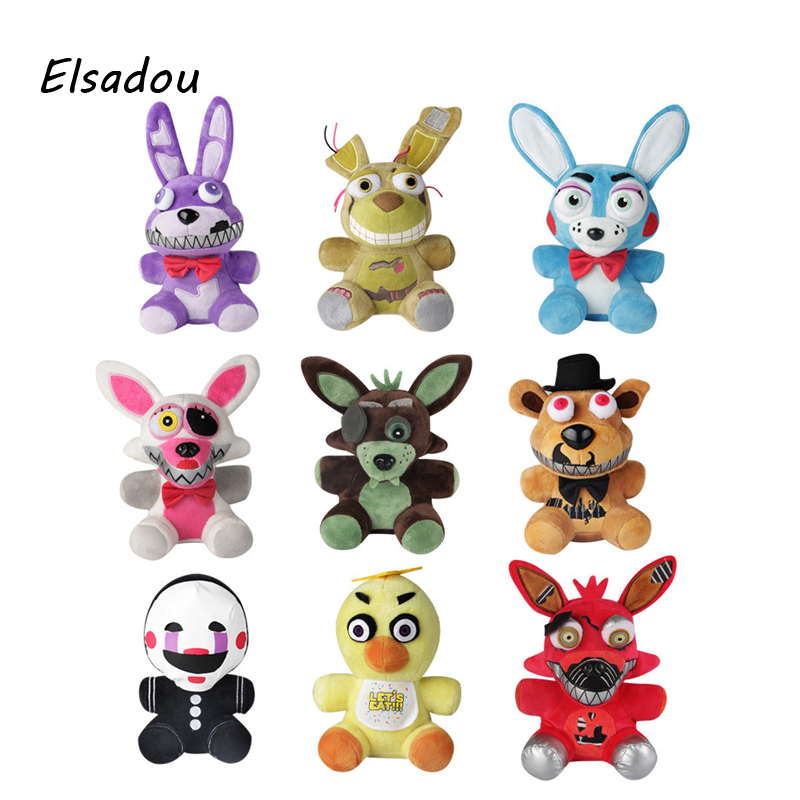 Elsadou Five Nights at Freddy New Vision Plush FNAF Figure Toy майка классическая printio five nights at freddy