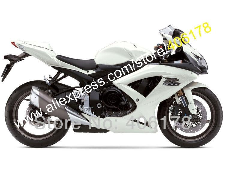 Hot Sales,All white For SUZUKI 08-10 GSXR 600 GSXR 750 2008 2009 2010 K8 GSX-R600 750 customize fairings kit (Injection molding) hot sales for suzuki gsxr600 750 2008 2010 gsxr 600 750 k8 08 10 gsx r600 gsx r750 abs body part fairing set injection molding