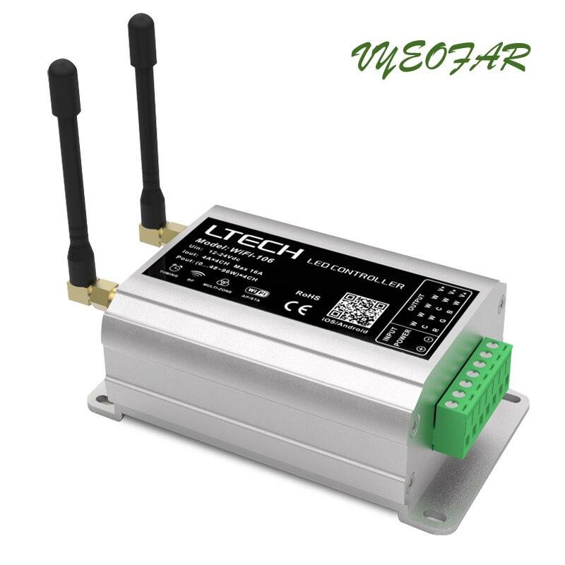 Nova WiFi 106 LED wifi controlador com RF remoto F12; 2.4GHz Receptor Sem Fio, sistema de Controle de painel de toque RGB Levou Iluminação de tira