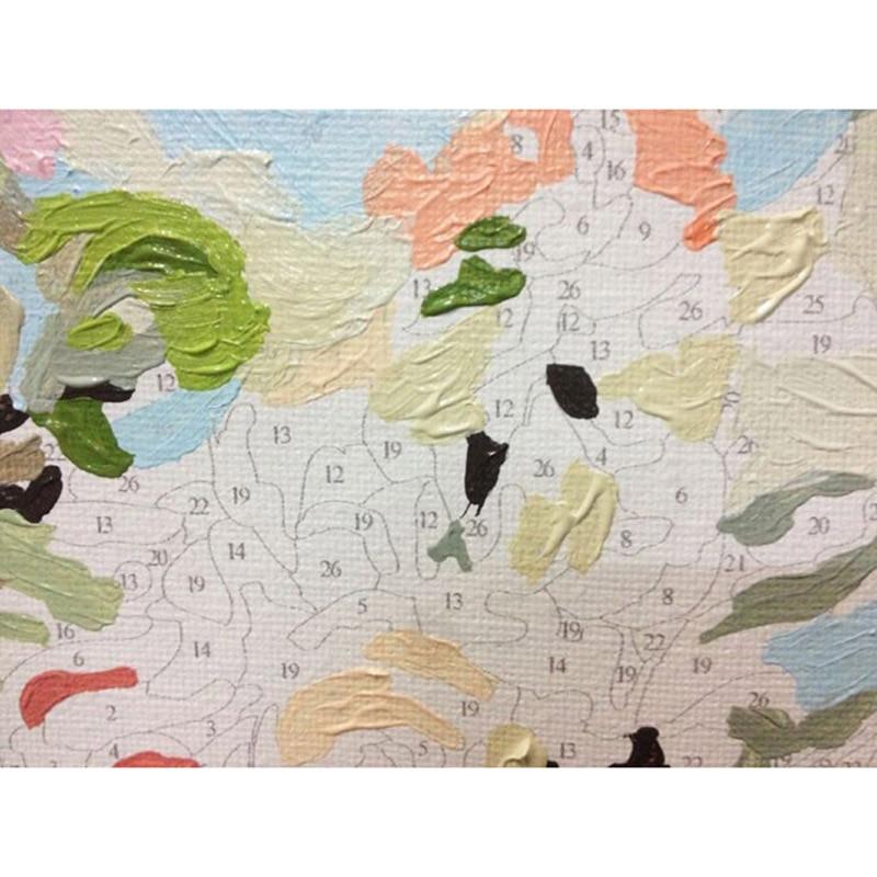 Xixi arte imagen DIY digital óleo sobre lienzo decoración del hogar ...