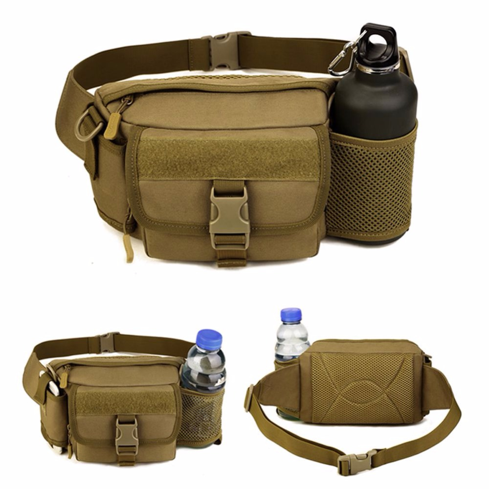 Dual Usages Outdoor Military Tactical Sport Camping Hiking Trekking Portable Waist Bag