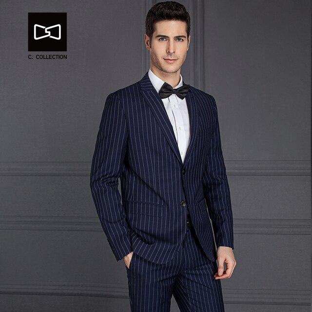 f883467538e Tailor-made Men Blue Stripe Suit Slim fit Wedding Suit Men Tuxedo 2 Pieces Custom  Suit(Jacket+Pants) No. SZ160X7