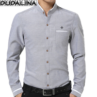 DUDALINA 2017 Oxford Shirt Men Long Sleeve Shirt Men Clothes Slim Fit Casual Men Social Shirt