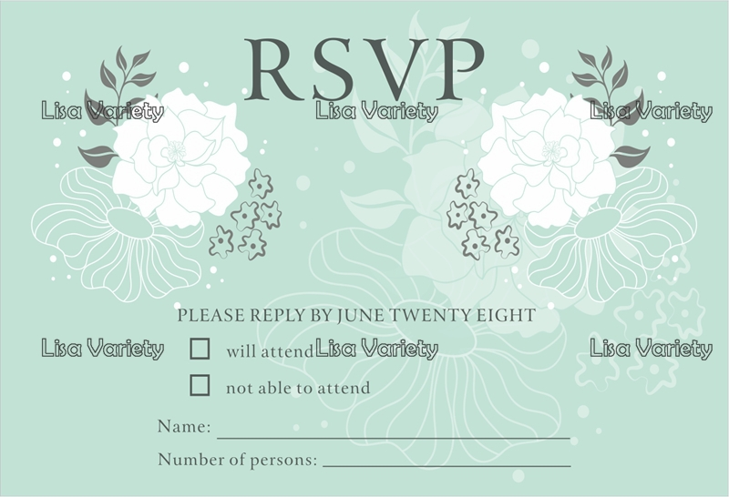 Us 19 9 Free Shipping Personalized Rsvp Card With Free Envelope For Wedding Party 50 Pcs Lot R4 In Cards Invitations From Home Garden On