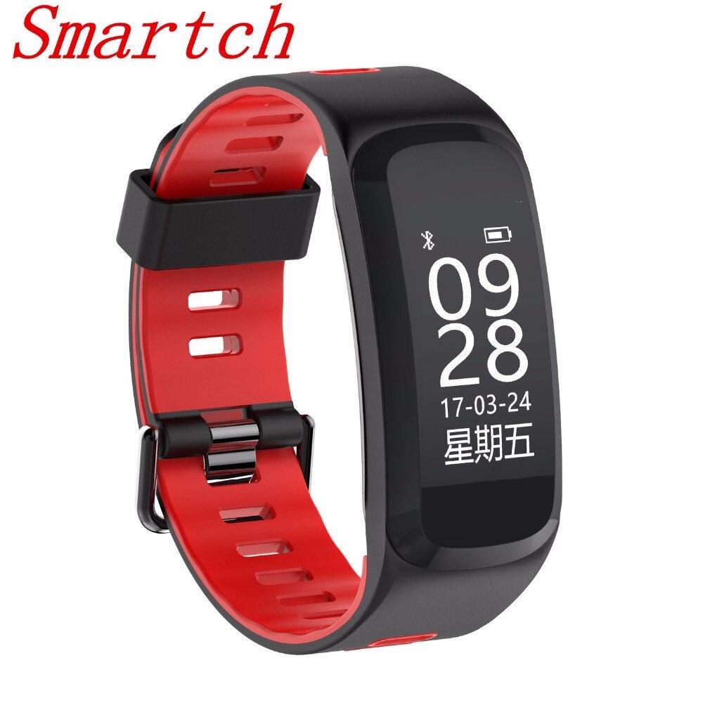 Smartch No 1 F4 de Remise En Forme Intelligente Bracelet IP68 étanche La Pression Artérielle en Oxygène du Sang Moniteur de Fréquence Cardiaque bande À Puce Pour IOS Android
