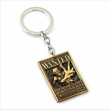 ZTZ103-1 Japanese Cartoon One Piece Anime Peripheral Jewelry One Piece Tong Tong Ling Luo Logo Keychain Mina Ace Alloy Tag Toys(China)