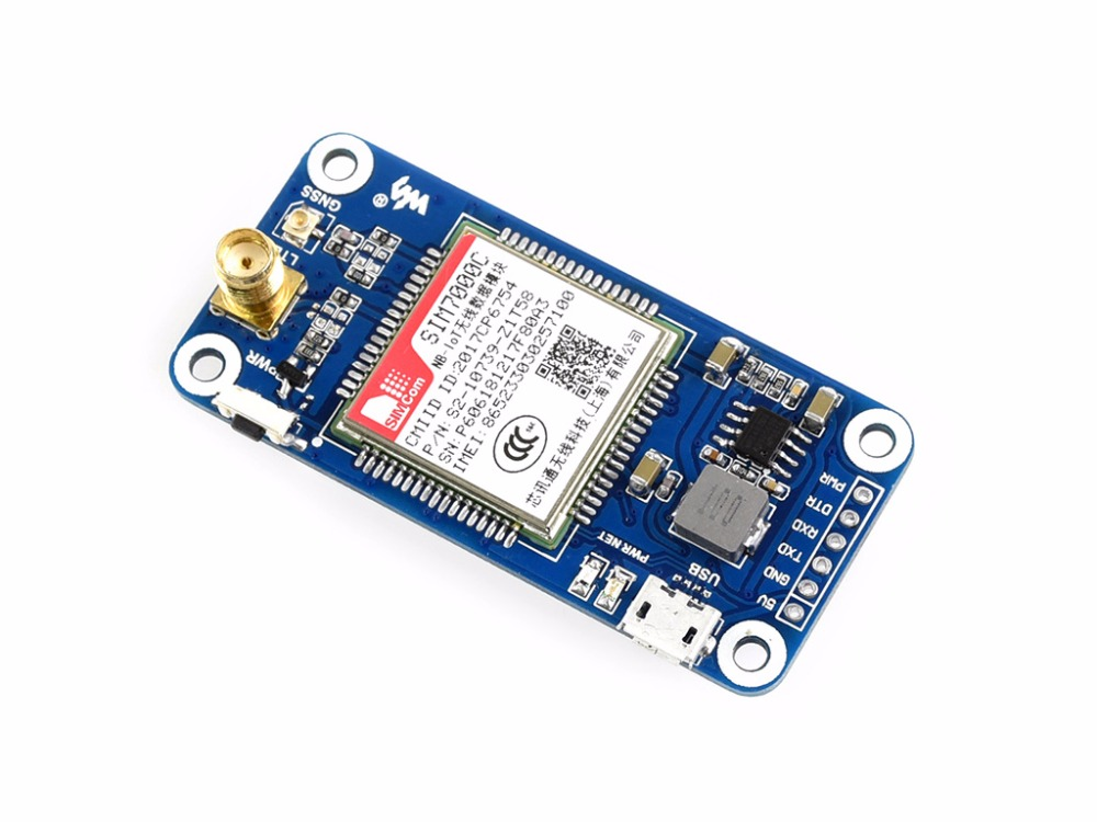 NB IoT eMTC EDGE GPRS GNSS HAT for Raspberry Pi Based on SIM7000E ONLY available in