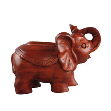 XING KILO  Luxury Mahogany Decoration Woodcarving Carton Desktop Solid Wood Office Tissue Box Manual Process