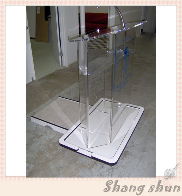 acrylic podium clear lectern clear pulpit lectern