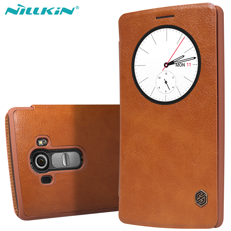 best sneakers 6b3d8 a2684 Original Nillkin for LG G4 Quick Circle Case for LG G4 H810 H815 VS999 F500  H818 LS991 Flip Leather Cover Sleep Wake Phone Shell