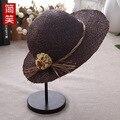 Смеялся в весной и летом солнце затенение крышка Langya Шляпу Цветок пляж отдых все матч шляпа солнца шляпа леди