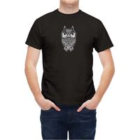 T Shirt Ethnic Bird Wise Owl 100 Cotton T Shirts Brand Clothing Tops Tees Mens Hipster