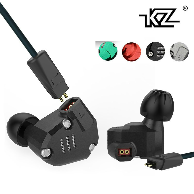 KZ ZS6 2DD+2BA Hybrid Earphone Stereo Hifi Metal Headset In-Ear Monitorrong Headphone DJ Audio Ear Buds for Phone Players edifier h210 3 5mm in ear hifi stereo earphone headset headphone for cellphone tablet pc