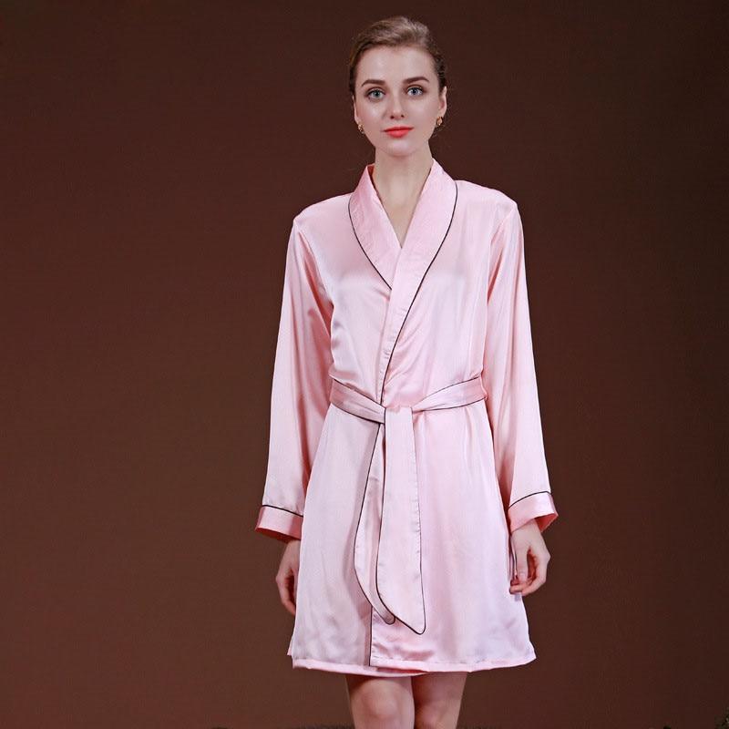 Señoras dama Albornoces imitación seda satén Bañeras robe para las ...