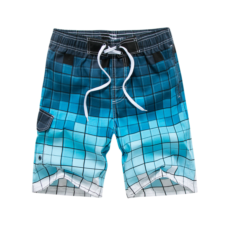 maillot de bain homme Brand Men's   Board     Shorts   Beach   Shorts   2018 Summer New lattice Print Casual   Shorts   High Quality   board     short