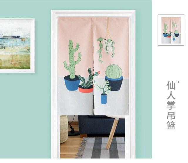 Japanischen Stil Baumwolle Pflanze Kaktus Kunst Tur Vorhang Dekoration Hangen Schlafzimmer ...
