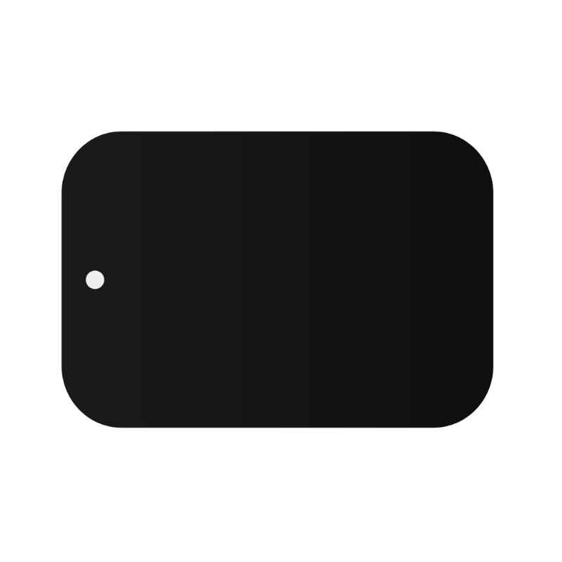 Metal Plaka manyetik araç tutucu mıknatıslı telefon tutucu Yapışkanlı Etiket Yuvarlak Kare Değiştirme #221