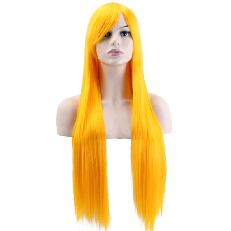 JOY&BEAUTY Long Straight Wig Synthetic Hair 13 Color Heat Resistant Fiber 32 inch Cosplay Wig For Black White Women Wigs