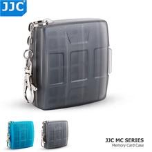 حافظة بطاقات الذاكرة الخاصة بكاميرا التخزين JJC المقاومة للماء بطاقة SD MSD 2 SIM بطاقة مايكرو SIM نانو SIM حافظة بطاقات