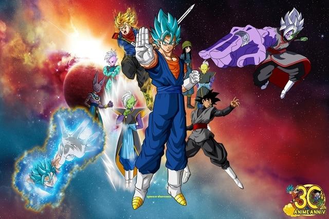 Beerus Black Goku Dragon Ball Super Gowasu Mai Vegito Kai KD711 Living Room  Home Wall Art