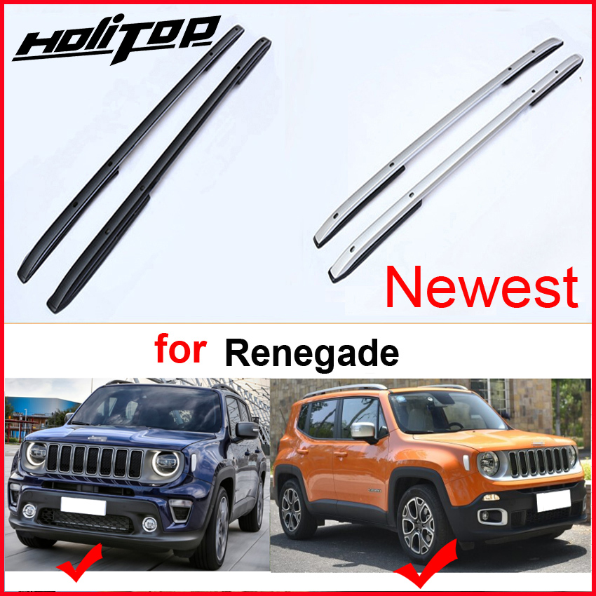 New arrival roof rack roof rail roof bar luggage bar for Jeep Renegade thick aluminum alloy