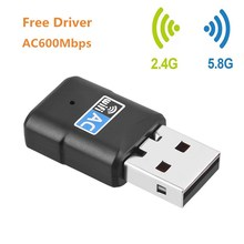 Free Driver USB font b Wifi b font Adapter 600Mbps Dual Band 2 4G 5G Wi