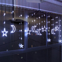Holiday Decoration Christmas Lights LED Stars Moon Curtains Lantern String Long 3M High 1 5M