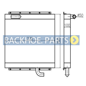 Hydraulic Oil Cooler for Kato Excavator HD900