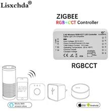 GLEDOPTO ZIGBEE Led Controller RGB + CCT WW/CW zigbee controller LED DC12 24V LED streifen controller zll app controller RGBW rgb