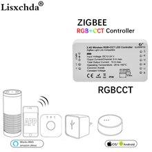 جلودوبتو زيجبي Led تحكم RGB + CCT WW/CW زيجبي تحكم LED DC12 24V LED قطاع تحكم zll app تحكم RGBW rgb