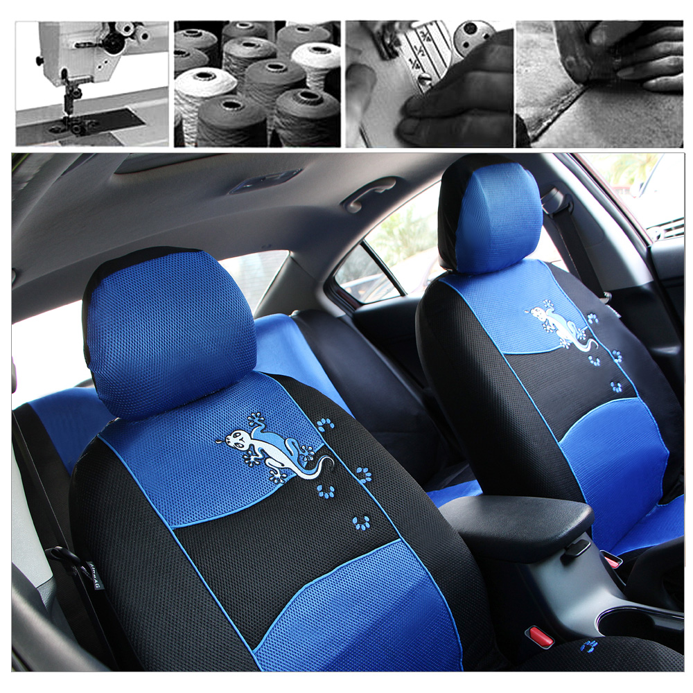 Auto Care Top Quality Gecko Embroidery Car Seat Cover Universal Fit