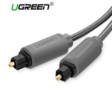 Ugreen Cable de Audio Digital Óptica SPDIF Toslink Chapados En Oro de 1 m 2 m 3 m Cable Coaxial para Blu-ray CD Dvd Xbox 360 PS3 AV TV