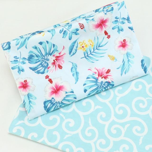 50x40 cm hoa vải cotton, Đồng Hồ Đo vải tự làm handmade Miếng dán cường lực vải cotton vải nhà dệt