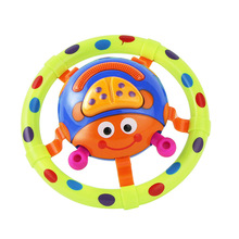 цены Huan qiu xin mao children musical toys Baby ladybug toys with sound and light grasping toy as a gift for little kids