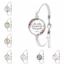 2019 Hot New He Calls Me Beautiful One Bible Verse Women's Bracelet Glass Cabochon Letter Patterns Glass Dome Christian Gift 2019 hot new he calls me beautiful one bible verse women s bracelet glass cabochon letter patterns glass dome christian gift