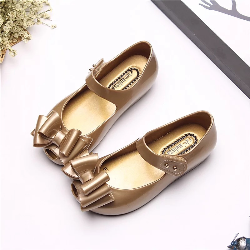 Melissa 2019 New Three Bow Original For Jelly Sandals Girls Cute Baby Shoes Beach